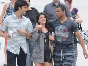 Michael Steger, Shenae Grimes and Tristan Wild | 90210 Set LA | Pictures | Photos | New
