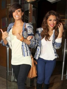 Frankie Sandford and Vanessa White